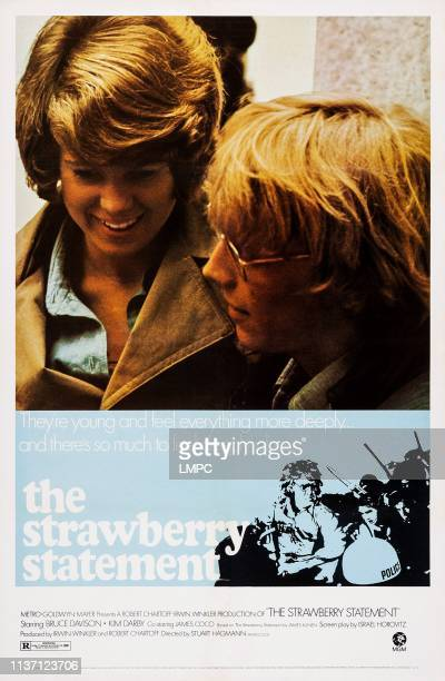 The Strawberry Statement poster US poster art from left Kim Darby Bruce Davison 1970