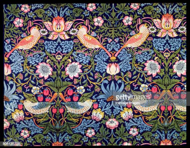 The Strawberry Thief' textile designed by William Morris 1883 Artist William Morris
