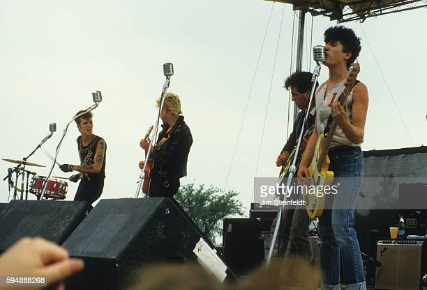 The Stray Cats perform at Trout Aire Amphitheatre in Forest Lake Minnesota on July 8 1984