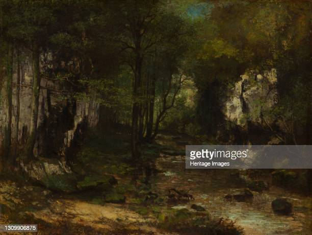 The Stream , 1855. Artist Gustave Courbet. .