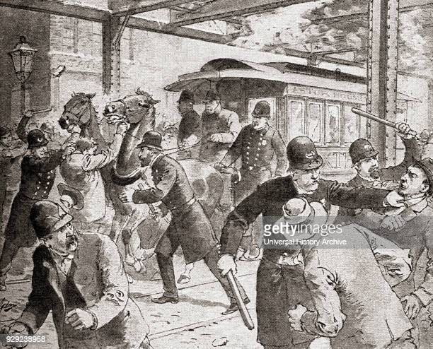 The street car strike of 1889 Rochester New York United States of America A protest by workers against long hours and exposure to the elements on...