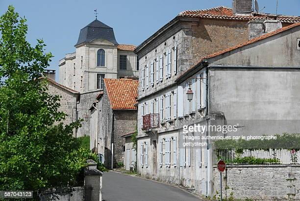 The street near medieval castle