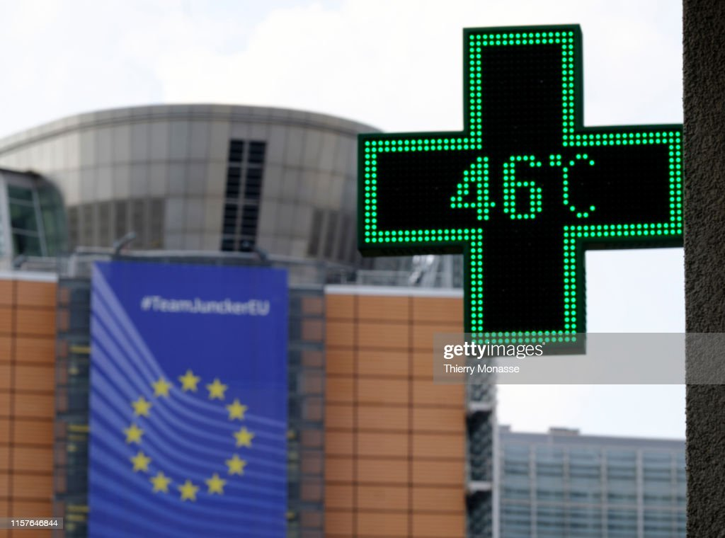 Heat Wave In Brussels : News Photo