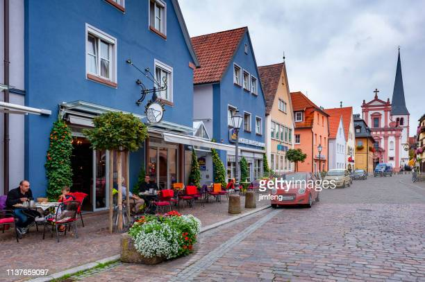 The street view in Wurzburg, Germany
