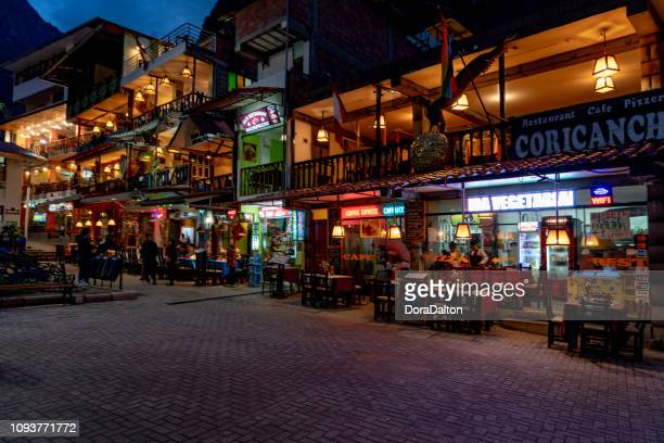 The Street View of Aguas Calientes in Peru