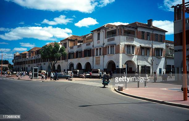 the streets of antananarivo - antananarivo stock photos and pictures