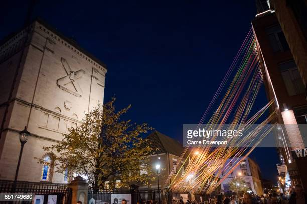 The streets of Belfast at Culture Night Belfast on September 22 2017 in Belfast Northern Ireland