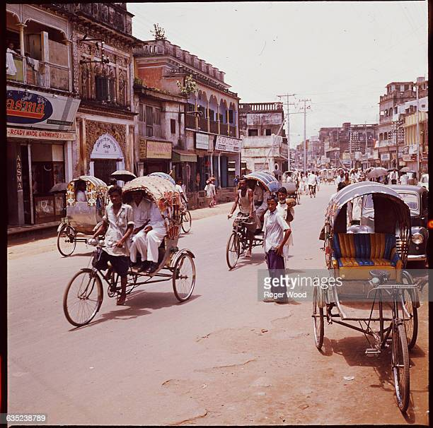 The streets of Dacca, East Pakistan, August 1962.