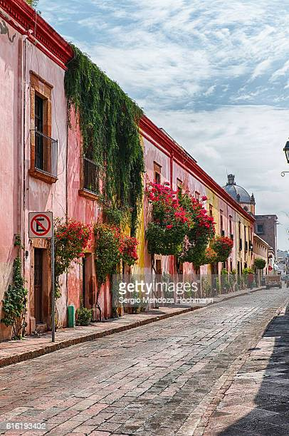 the streets of downtown queretaro, mexico - queretaro state stock pictures, royalty-free photos & images
