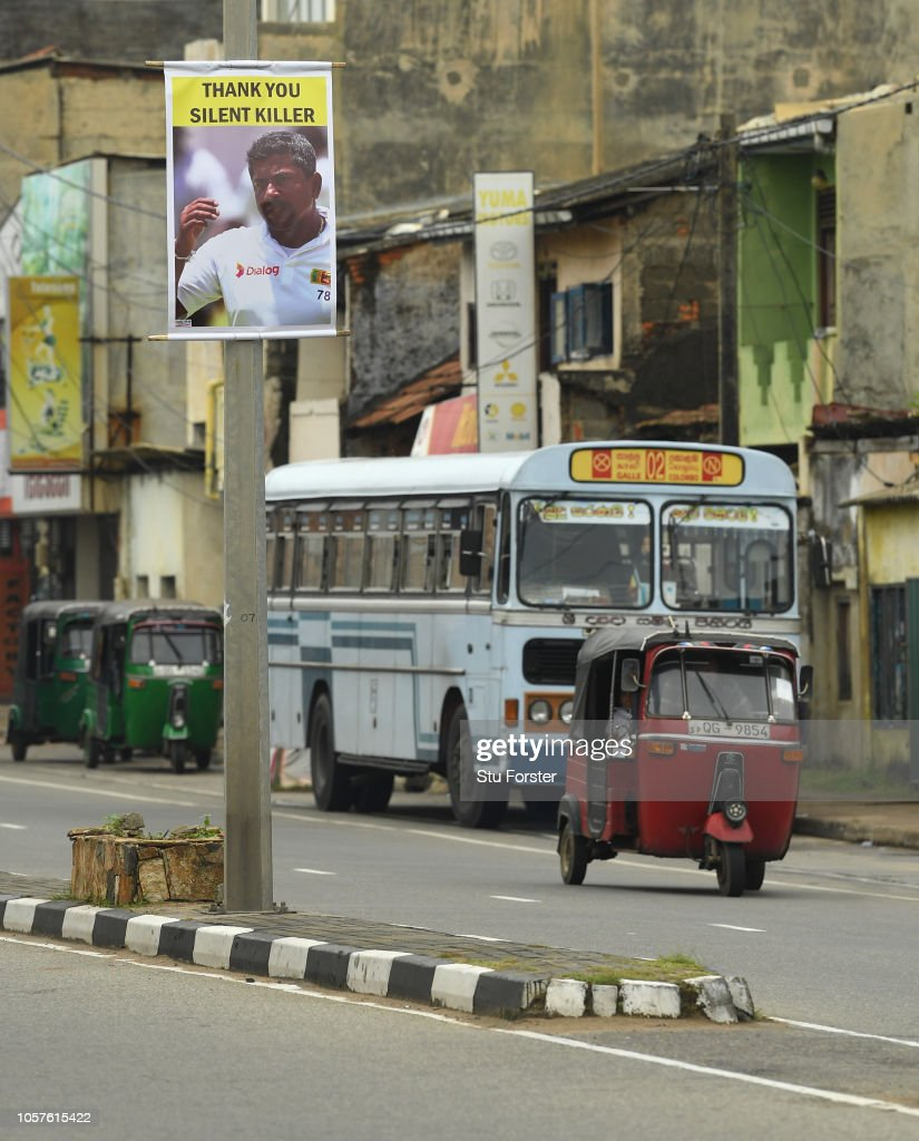 The streets of Galle pay homage to Sri Lanka spin bowler