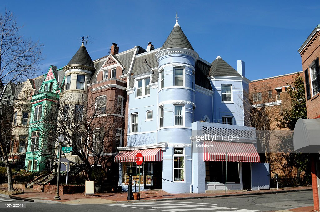 The streets of Georgetown in Washington : Stock Photo