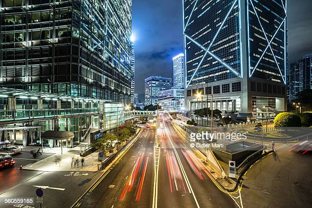 The streets of Hong Kong at night