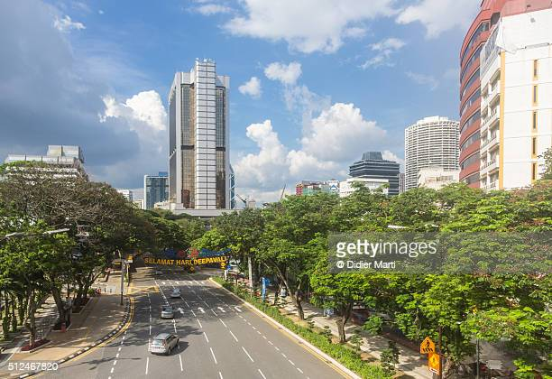 the streets of kuala lumpur - didier marti stock photos and pictures