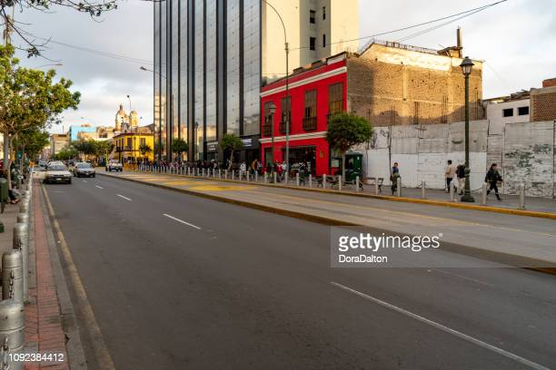 the streets of lima, peru - lima stock pictures, royalty-free photos & images