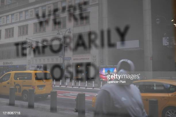 The streets of Manhattan stand nearly empty due to the coronavirus epidemic on April 10 2020 in New York City According to John Hopkins University...