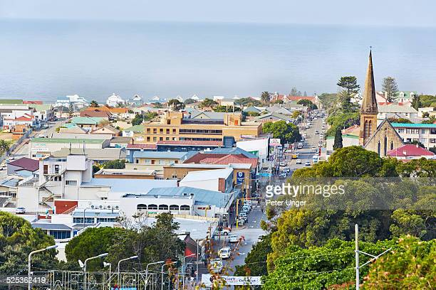 the streets of mossel bay on the garden route - mossel bay stock pictures, royalty-free photos & images