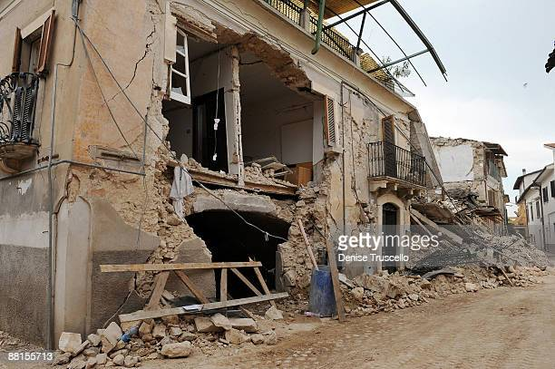 The streets of Onna, where 41 residents of the village were killed in the 6.3 magnitude earthquake that struck the Abruzzo region of Italy on April...