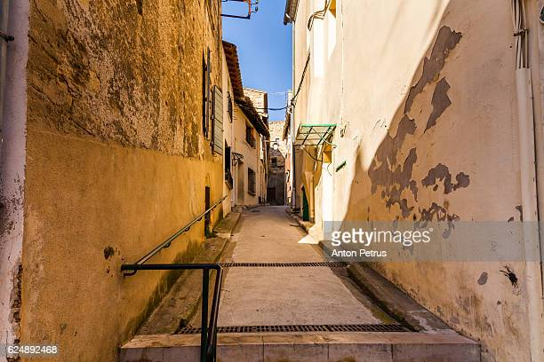 The streets of Saint-Gilles, Gard, France