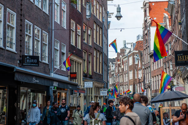 NLD: Streets Of Amsterdam Decorated With Rainbow Flags