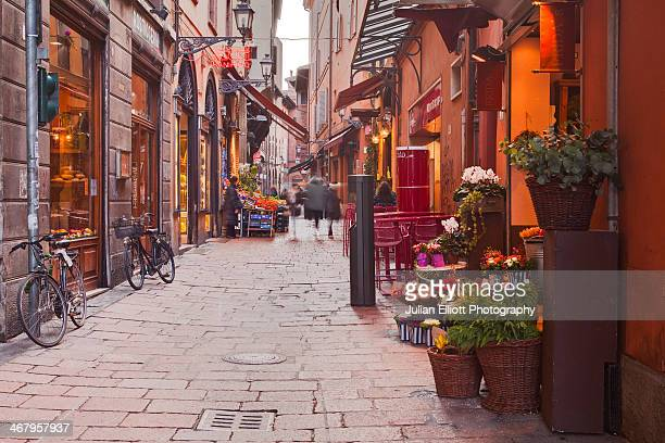 The streets of the historic centre of Bologna.
