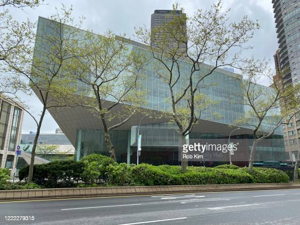 The streets remain empty outside Alice Tully Hall during the coronavirus pandemic on May 1 2020 in New York City COVID19 has spread to most countries...
