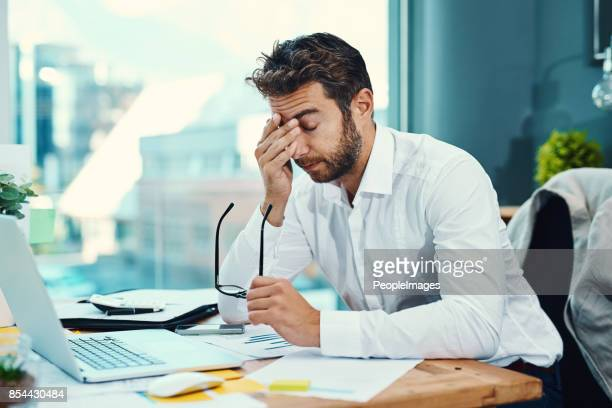 The stress of work is triggering a bad headache