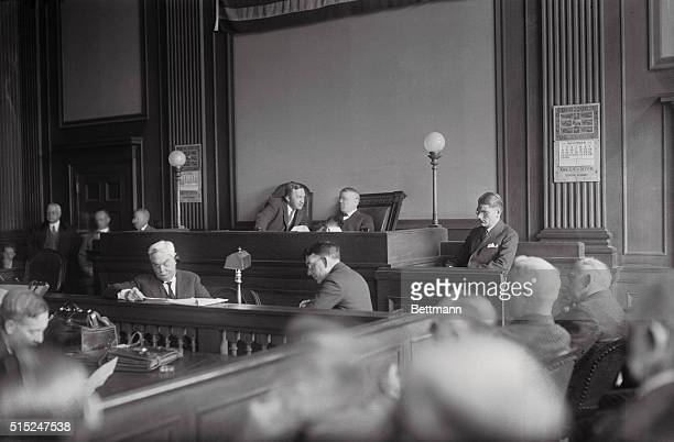 The striking scene in White Plains New York court where Leonard Kip Rhinelander is seeking an annulment of his marriage to his wife on the ground...