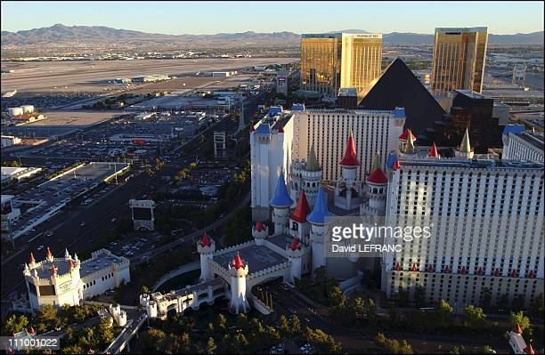 The Strip and the Excalibur Hotel at the 100th anniversary of The World's gambling in Las Vegas United States on October 04th 2004