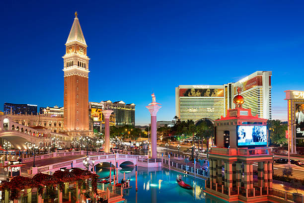 The Strip and Venetian Hotel, Las Vegas, USA