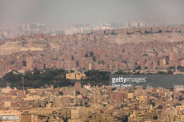 The strip of green is AlAzhar park sandwiched between old Cairo and Manshayet Nasr on September 24 2017 in Cairo Egypt Overview photos of Cairo's...