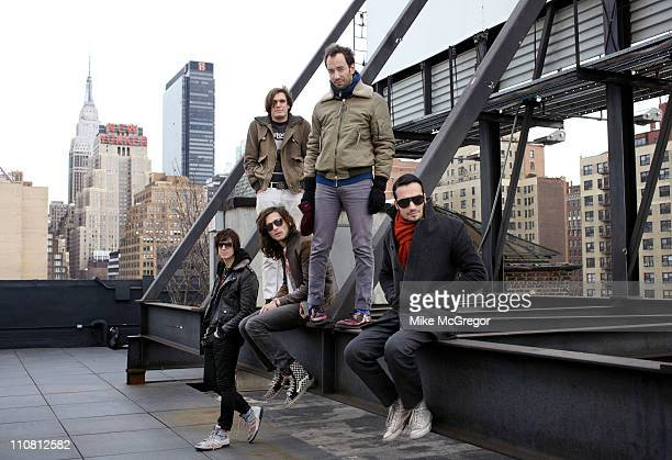 The Strokes are photographed for The Observer Magazine UK on February 9 2011 in New York City