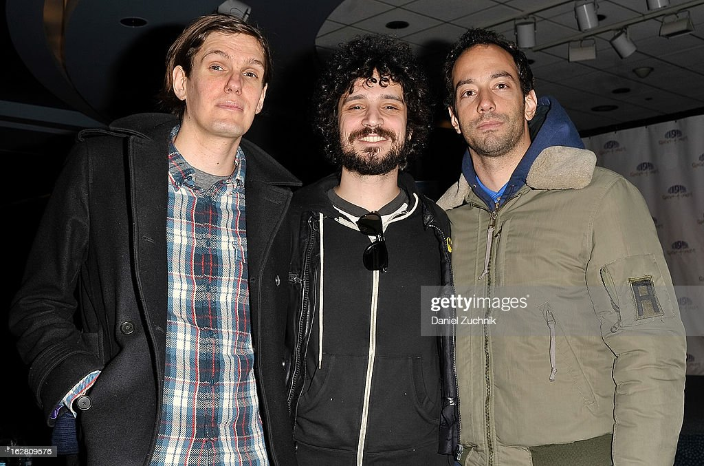 The Strokes members Nikolai Fraiture, Fabrizio Moretti and Albert Hammond, Jr. attend Garden of Dreams Foundation Talent Show Auditions at The Theater at Madison Square Garden on February 27, 2013 in New York City.