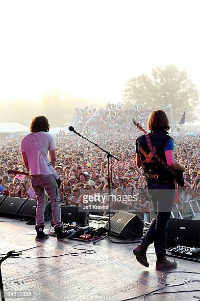 The Strokes perform on stage during Bonnaroo 2011 at Which Stage on June 12 2011 in Manchester Tennessee