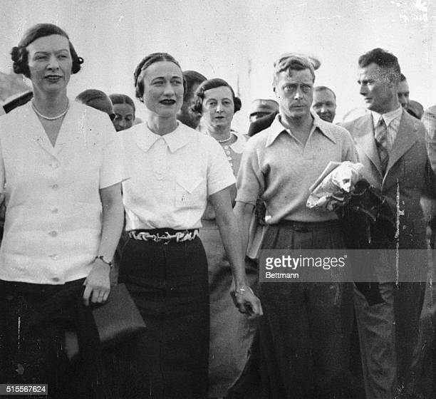 The strong link of friendship between King Edward and Mrs Ernest Simpson was evident on the King's recent vacation cruise when the monarch and the...