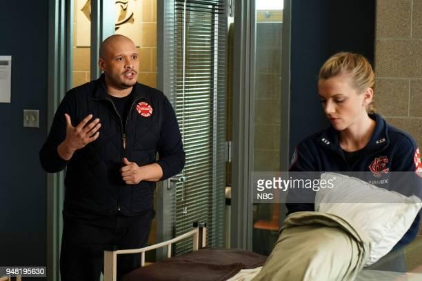 FIRE 'The Strongest Among Us' Episode 620 Pictured Joe Minoso as Joe Cruz Kara Killmer as Sylvie Brett