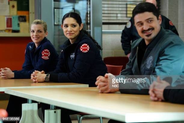 FIRE 'The Strongest Among Us' Episode 620 Pictured Kara Killmer as Sylvie Brett Miranda Rae Mayo as Stella Kidd Yuri Sardarov as Otis
