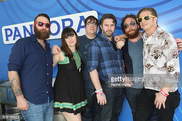The Strumbellas attend the PANDORA Discovery Den SXSW on March 17 2016 in Austin Texas