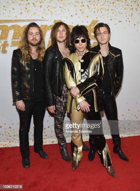 The Struts attend the 'America's Got Talent' Season 13 Finale live show red carpet at the Dolby Theatre on September 19 2018 in Hollywood California