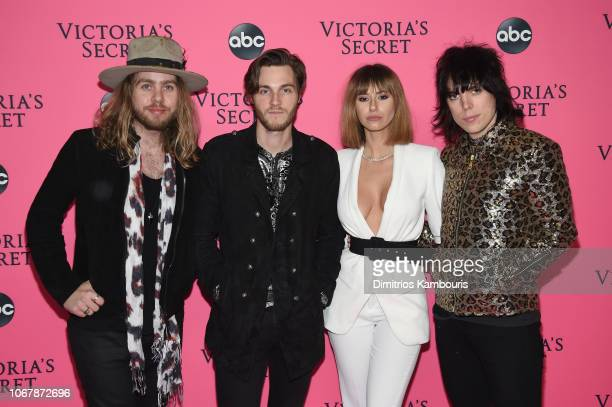 The Struts attend the Victoria's Secret Viewing Party ar Spring Studios on December 2 2018 in New York City