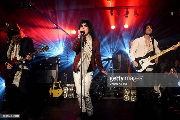 The Struts perform at John Varvatos New York Fashion Week Concert #bowerylive on February 13 2015 in New York City