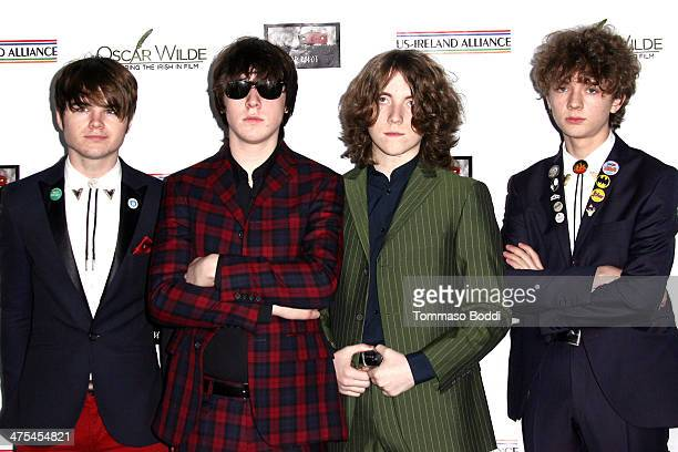 The Strypes attend the USIreland alliance preAcademy Awards event held at Bad Robot on February 27 2014 in Santa Monica California