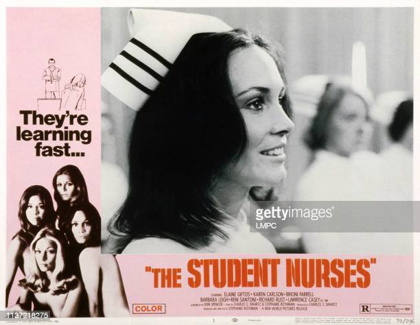 The Student Nurses US lobbycard clockwise from bottom left Karen Carlson Brioni Farrell Elaine Giftos Barbara Leigh 1970