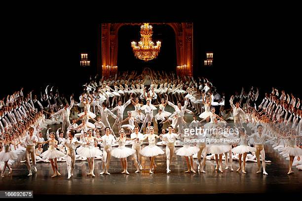 The students of the dance school and Star Dancers of 'Opera de Paris' on stage while Tricentenary of the French dance school AROP Gala at Opera...