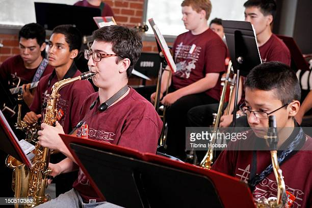 The students of the Sherman Oaks Center for Enriched Studies attend Microsoft's 'Shape The Future Program' to benefit VH1 'Save The Music' at Gibson...