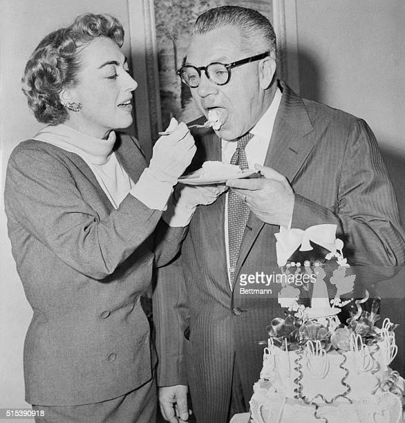 The Studio Knew They Were Coming SoHollywood Calif Studio friends had a belated wedding cake ready for actress Joan Crawford on her return from Las...