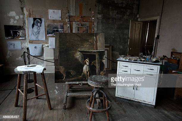 The studio of late artist Andrew Wyeth on April 7 in Chadds Ford PA Wyeth's studio is now part of the Brandywine River Museum
