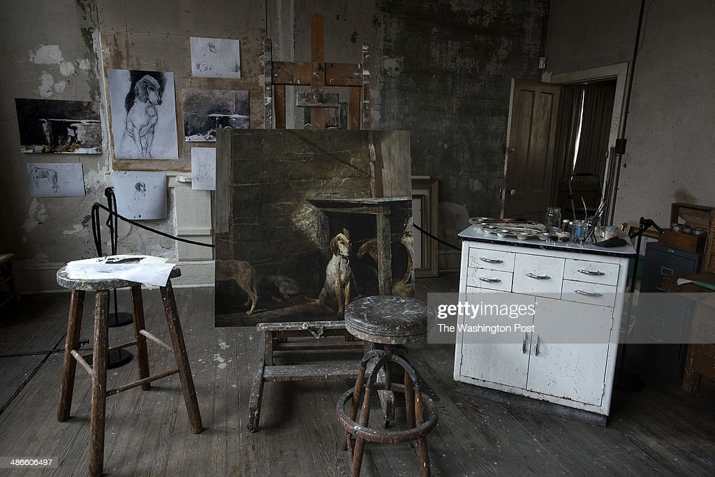 The Studio Of Late Artist Andrew Wyeth On April 7 In Chadds Ford PA Wyethu0027s  Studio