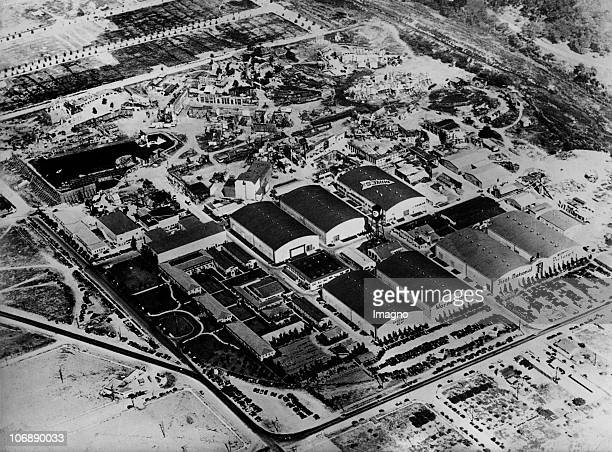 The studios of Warner Bros Entertainment in Burbank Burbank California Aerial photograph 1933