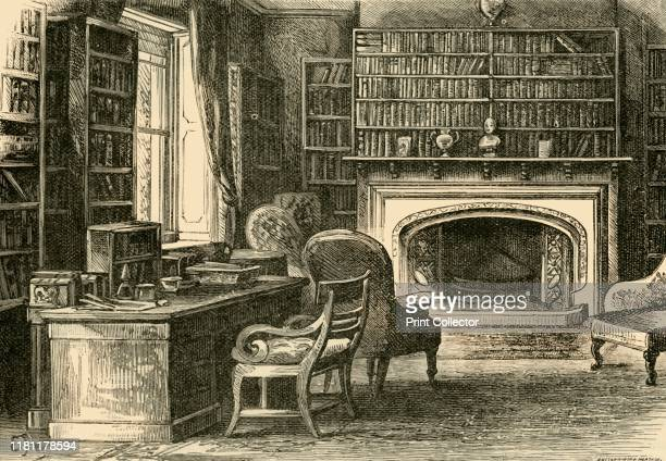 The Study at Hawarden' 1898 Hawarden Castle in Flintshire Wales estate of former British prime minister William Ewart Gladstone From Our Own Country...