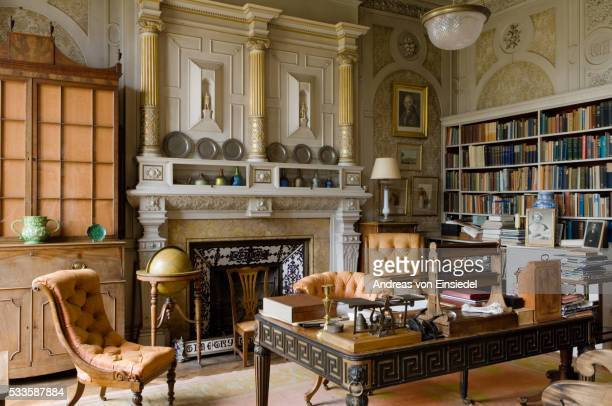 The Study in the new house at Scotney, Kent